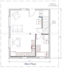 Open Cabin Floor Plans Floor Plan 24x20 Sqft Cottage B