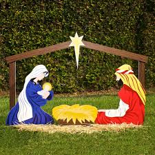 Outdoor Christmas Decoration by Large Outdoor Christmas Ornaments Nativity Yard Decorations