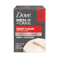 dove men care deep clean body and face bar