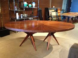 mid century round dining table furniture fascinating mid century modern round dining table wooden