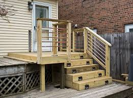 thinking about using horizontal deck railing u2014 railing stairs and