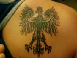 polish eagle tattoo design on back photos pictures and sketches