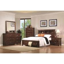 bookcase bedroom set coaster noble queen bookcase bedroom set with dovetail drawers in