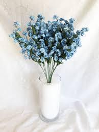 baby s breath flowers 12 baby s breath light blue gypsophila silk wedding flowers