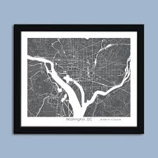 Washington Dc City Map by Washington Dc Map Washington Dc City Map Art Washington Dc Wall