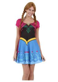 womens anna frozen costume dress