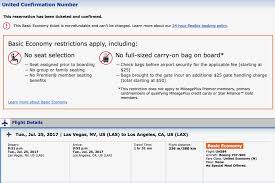 What Does United Charge For Baggage Flight Review United 737 900 Basic Economy Las To Lax