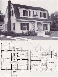 Colonial Floor Plans 1920s Vintage Home Plans Dutch Colonial Revival The Washington