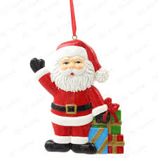 santa claus with gifts ornament personalized christmas tree
