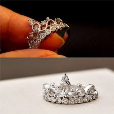 crown style rings images Graceful crown style 925 silver promise ring for her 2017 jpg