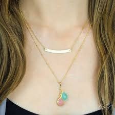 Personalized Bar Necklace 52 Best Bar Necklaces Images On Pinterest Bar Necklace Layering