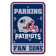 the sports fan zone new england patriots fan zone parking sign patriots fans parking