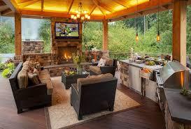 cuisine d été couverte design exterieur barbecue cuisine été salon jardin cheminée