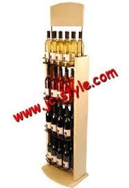 floor standing wine bottle display shelf supermarket whiskey
