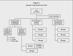 organizational chart strategy levels examples manager type