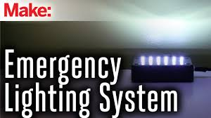 emergency lights when power goes out emergency lighting system youtube