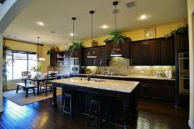 kitchen breathtaking dark kitchen design with cream granite