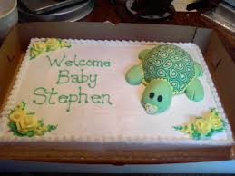 turtle baby shower cake