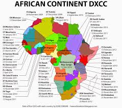 africa continent map ham radio ireland ei2kc the entire continent of africa worked
