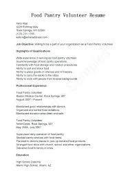 volunteer resume template sle volunteer resume