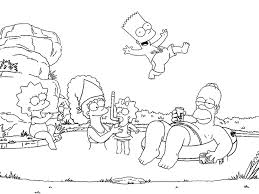 the simpsons coloring pages 4 coloring kids