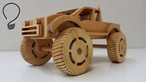 Homemade Wooden Toy Trucks by Making A Wooden Monster Truck Youtube