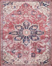 lucca lf 04 rust ivory area rug magnolia home by joanna gaines