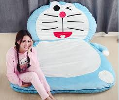 2016 new fashion doraemon giant sleeping bag sofa bed twin cute