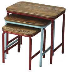 butler specialty nesting tables decorative nesting tables industrial chic rustic coffee table