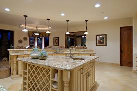 alluring modern kitchen design with granite counter top combined
