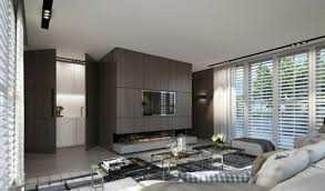 wohnideen farbe penthouse holzwand neutrale farbe wohnzimmer wohnideen guitar studio