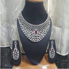 silver necklace sets images Designer silver necklace set chandi ka har set glitiani jpg