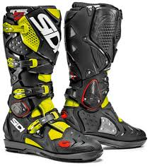 kids motocross boots sidi crossfire 2 srs motocross boots sidi cross black yellow