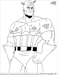 superhero captain america 99 coloring pages printable