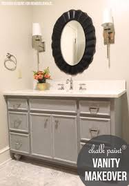 how to paint existing bathroom cabinets remodelaholic chalk paint bathroom vanity makeover
