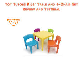 tot tutors table and chair set tot tutors kids table and 4 chair set youtube