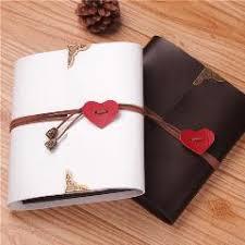 Large Wedding Photo Album Photo Album High Grade Leather Heart Shape Diy Handmade Gift