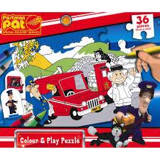 postman pat special delivery service 36 piece colour u0026 play puzzle