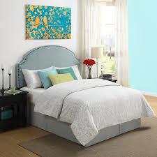 amazon com dorel living skylar nailhead linen padded headboard