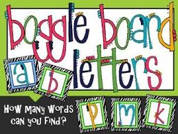 free printable boggle letters game