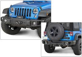 Tactik Front U0026 Rear Bumper With Led Fog Lamps For 07 17 Jeep