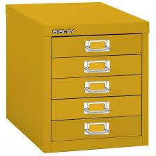 Yellow Filing Cabinet Uk Bisley 5 Multidrawer Filing Cabinet H125nl Yellow