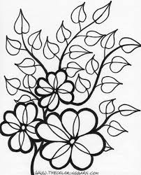 coloring cartoon flower coloring pages