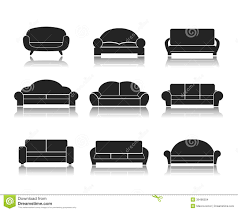 Modern Luxury Sofa Modern Luxury Sofas And Couches Stock Vector Image 39496504