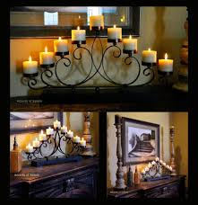 decorating lovely black fireplace candelabra made of metal with