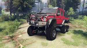 jeep mercedes red mercedes benz g65 amg 6x6 final lemans red for spin tires