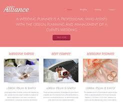 wedding planner website 19 free wedding html website templates templatemag