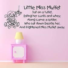 Nursery Rhyme Wall Decals Miss Muffet Childrens Nursery Rhyme Vinyl Wall Sticker