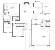 Open Floor Plans Ranch Style Homes Ranch Style Open Floor Plans With Basement Areas Colored In