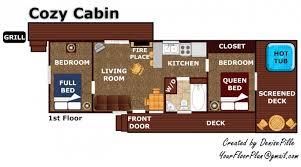 Cabin Floorplan Cozy Cabin A Gatlinburg Cabin Rental